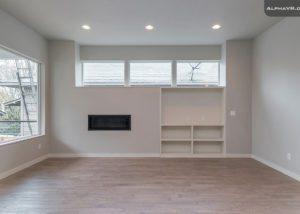 3833 SE 27th living built-in shelves modern style gas fireplace
