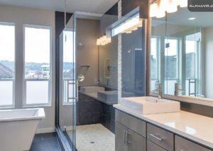 3833 SE 27th master bath glass shower